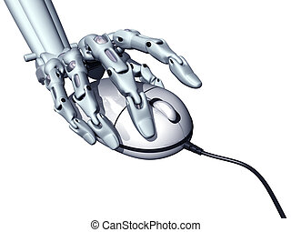 Computer science - Illustration of a robot controlling a...