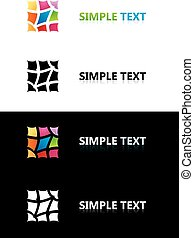 Logo templates. Color tile. Black and white backgrounds.