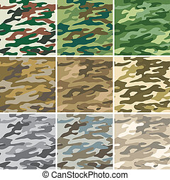 Camouflage seamless - Illustration of digital camouflage...