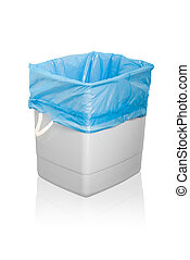 Garbage can. Isolated on white background.