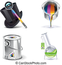 Vector print shop icon set. P.2