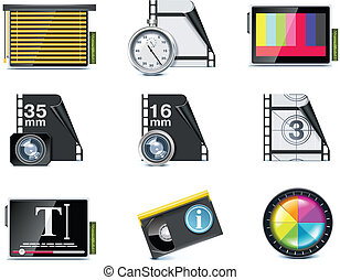 Vector video icons P7 - Set of the video editing related...