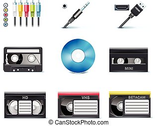Vector video icons P8 - Set of the video editing related...
