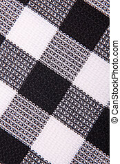 Black and whte linen fabric can use as background