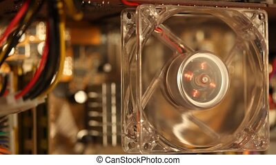 computer fan with multicolor LED illumination stop working,...