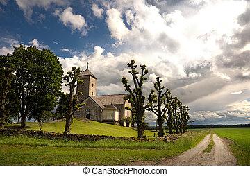 Country church - Small church  in a rural landsacpe