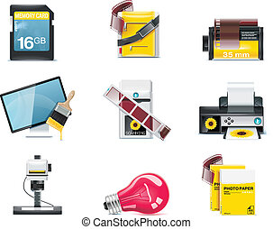 Vector photography icons. P.2