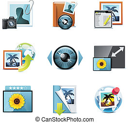 Vector photography icons P4 - Set of the detailed photo...