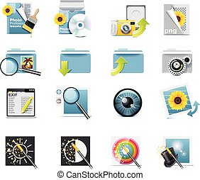 Vector photography icons. P.7