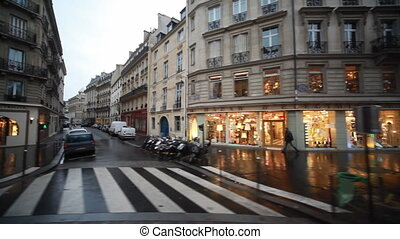 Streets and homes with showcases in Paris - streets and...
