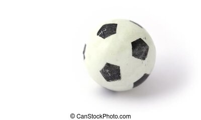 small toy soccer ball rotating
