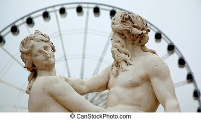 La Seine et la Marne, Sculpture de Nicolas Coustou,...