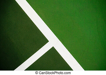Tennis Court Background - Angled photo of lines on a tennis...