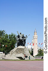 Ataturk monument - Monument of Mustafa Kemal Ataturk in...