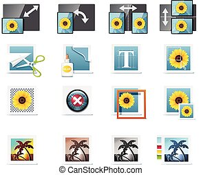 Vector photography icons. P.6