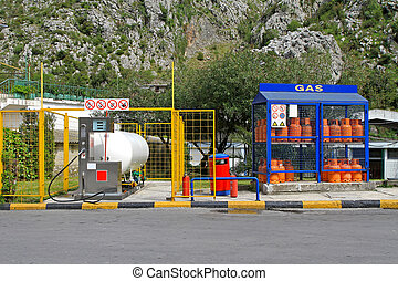 Home and auto gas - Petrol station for LPG auto gas and home...
