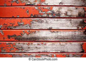 Old Red Barn Background - Texture of an old red barn in the...