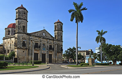 A view of Cathedral in Cardenas, cuban landmark - Cathedral...