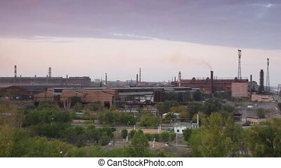 Modern factory with chimneys - Modern factory with chimneys...