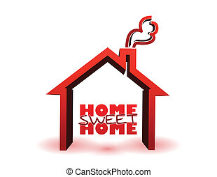 home sweet home illustration design isolated over a white...