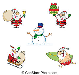 Holidays Cartoon Characters-Vector Collection