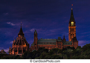 Canada's Parliament - An evening view of Canada's Parliament...
