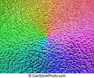 abstract rainbow metallic surface, closeup metal background