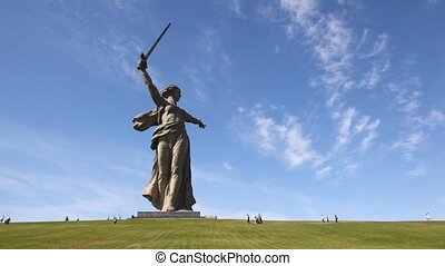 Monument of Native land-mother in Volgograd.