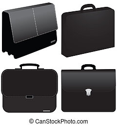 black business bag - vector