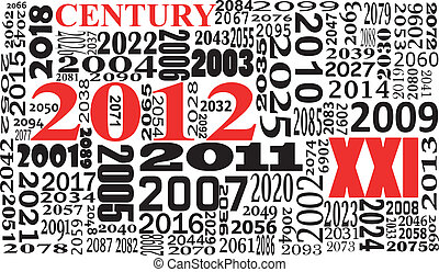xxi century - illustration of xxi century