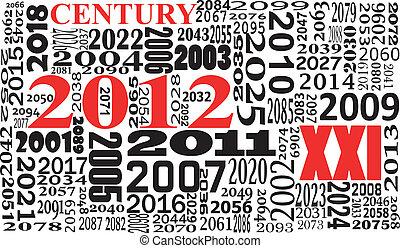xxi century - illustration of xxi century