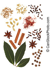 Spice and Herb Mixture - Spice and herb abstract selection...