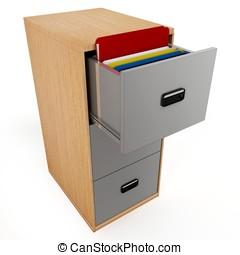 3D  file drawer