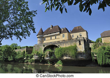 Chateau de Losse - The castle de Losse in the Perigord,...