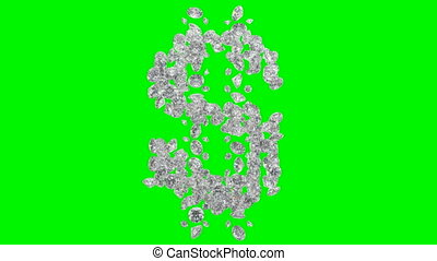 Diamonds dollar symbol scattering - Diamonds US dollar...