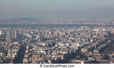 Paris left to right from Montparnasse tower - panorama of...