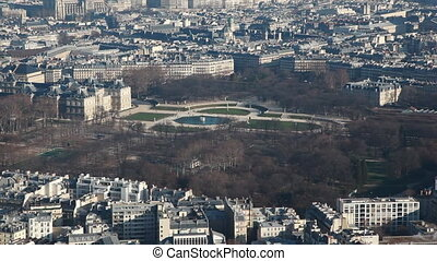 Luxembourg Gardens, former royal palace now park at Paris -...