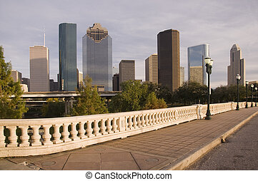 Bridge on the Bayou - Bridge vantage point view of downtown...