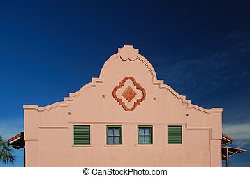 Spanish Mission Facade - Spanish mission facade is an...