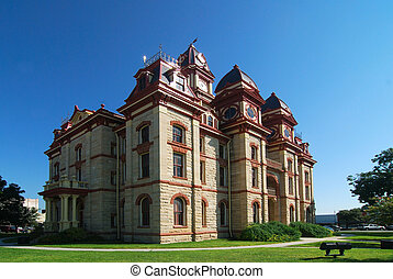 Caldwell County Courthouse - Limestone constructed county...