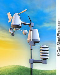 Weather station - Wireless weather station including an...
