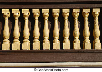 Wooden Banister - More is better when it come to banisters.