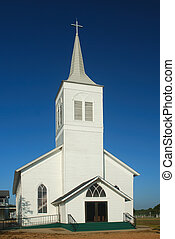 White Country Church - A well maintained old country church...