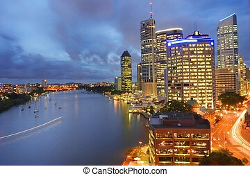Brisbane city (Australia) by night