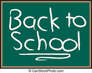 Back to School - Chalkboard with the words %u201Cback to...