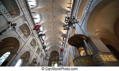 Ceiling Cathedral of St Louis in Paris - ceiling Cathedral...