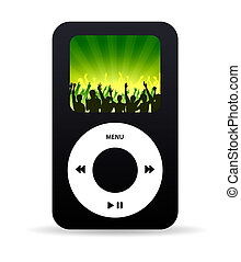 Funky Music Player - High resolution music player with crown...
