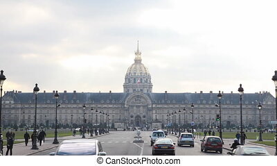 State Les Invalides in Paris, view from bridge of Alexander...