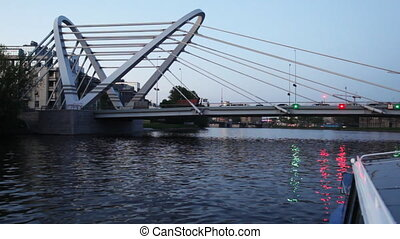 Lazarevsky bridge is new cable-stayed axle across Malaya...