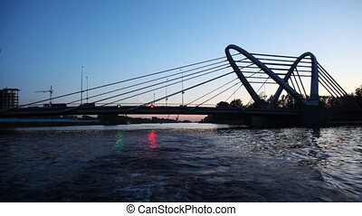 Silhouette Lazarevsky bridge is new cable-stayed axle across...